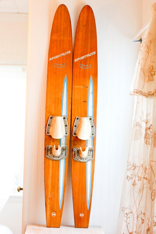 Vintage Wooden Water Skis 49