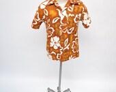 vintage HAWAIIAN shirt made in hawaii medium 1960s 1970s tiki