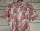 Vintage Clothing Mens Geometric Mid Century Shirt