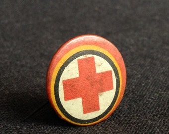 Red Cross vintage Belgium military pin