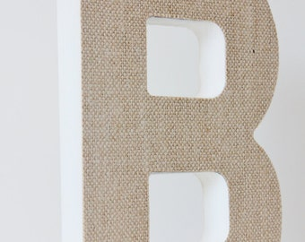 burlap letter free standing 3d for diy embellish alphabet monogram initial rustic wedding home decor photo prop kids nursery word art jute
