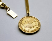 Pisces -  Necklace - Constellation - Zodiac - Charm - Necklace - Vintage - Coin - Humor - Astrology - Jewelry -  Mature