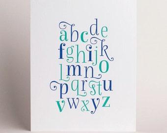 Letterpress Alphabet Art Print 01
