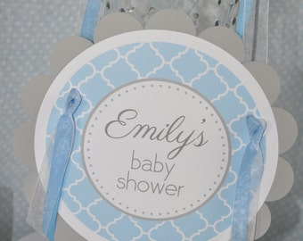 Boys Baby Shower Door Sign - It's A Boy Baby Shower Decorations - Blue and Gray - Boy Baby Shower Decorations - Shower Party Sign