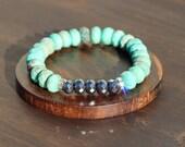 Chrysoprase and Hematite Reiki-Infused Energy Bracelet