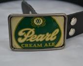Vintage Pearl Beer Can Belt Buckle