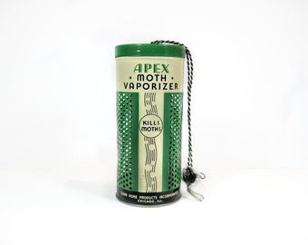 Art Deco Style Tin Canister, Industrial Modern