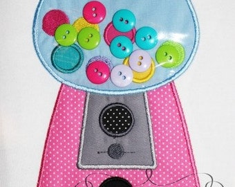 Gumball Machine Applique Shirt - 3D Shirt - Personalized Embroidery