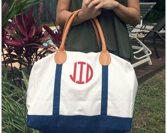 SALE Monogrammed Weekender Overnight Bag