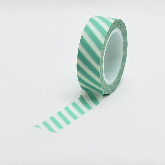 Mint Stripes Aqua Washi Tape - Love My Tapes