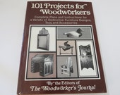 101 Projects Book for Woodworkers Plans Instructions Furniture Toys Vintage HC DJ
