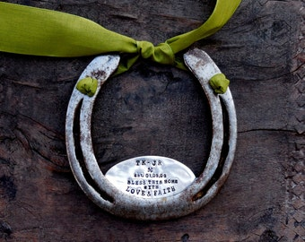 The Love & Faith Horseshoe™  The Traditional Symbol of Good Luck Handmade Original by Sycamore Hill. Southern Charm. Rustic Home Blessing