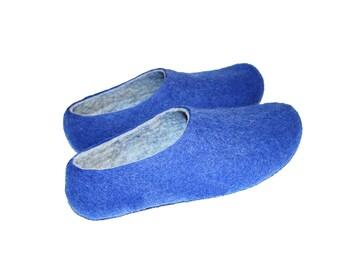 House Men Shoes Felt Slippers Men Handmade Wool Slippers Unisex, Men shoes House shoes Felted Wool Slippers, Women Men Christmas Gift Ideas