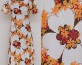 Maxi Earthy Floral 1970 Handmade Dress
