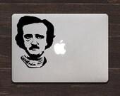 Edgar Allan Poe, The Master of Macabre Vinyl MacBook Decal BAS-0201