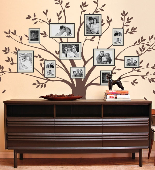 Family Tree Wall Decal Photo Frame Wall Decal Family by