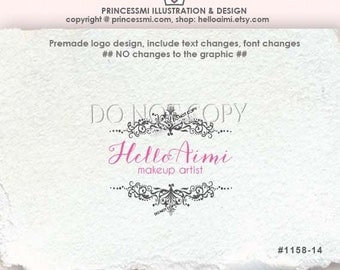 1158-14 Damask logo ,Scrolls logo ,photography logo ,business  logo ,boutique logo , watermark