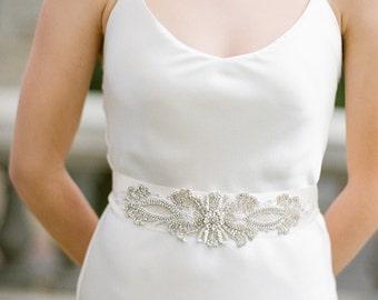 Bridal Sash, Wedding Belt, Swarovski Sash, Crystal Sash, Jewelled Sash, Crystal Belt,Swarovski Sash, Gown Sash - Madina