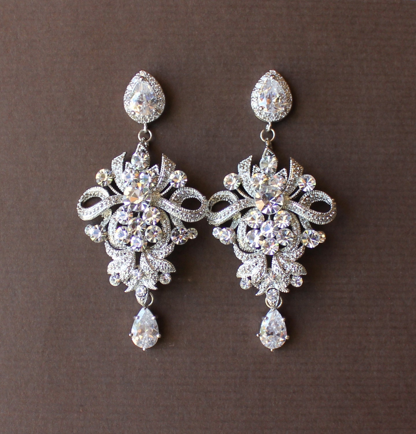 Wedding Chandelier Earrings Crystal Bridal Earrings by ...