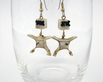 origami voodoo doll dangle earrings