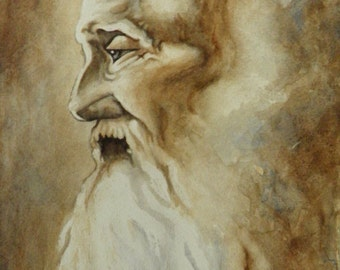 The Wise Man - Original Watercolor Painting