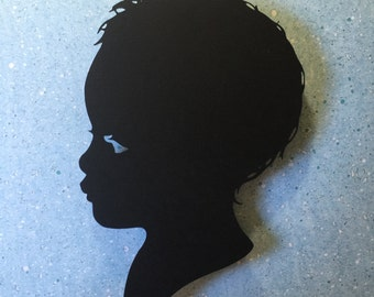 Custom Paper Silhouettes. Made to Order- (Unframed)