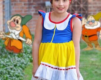 Girl's Swing top T shirt tunic Snow White