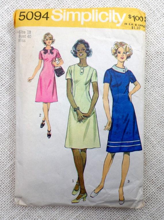 Vintage sewing pattern Simplicity 5094 dress shift dress - photo#38