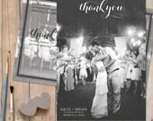 Rustic-Wedding-Thank-You-Card, Wedding Photo Thank You Cards - Carolina