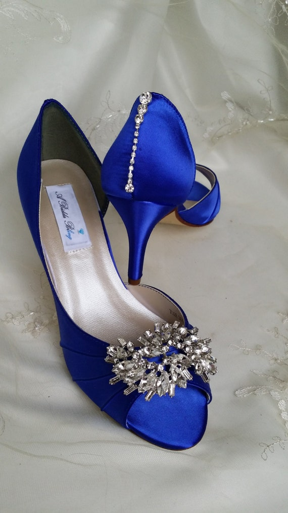 wedding shoes with bling items similar to wedding shoes blue bridal shoes with 1138