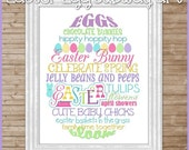 EASTER Egg Subway Art -  Printable INSTANT Download