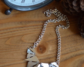 Silver Triangle Geo Necklace