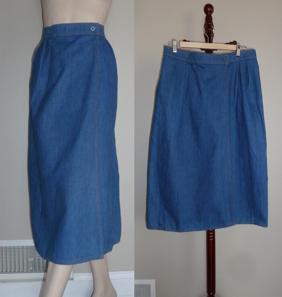 70s levi s skirt denim jean wrap skirt by