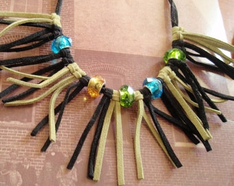 Bead and Leather Necklace