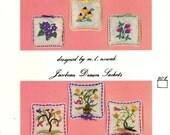 EMBROIDERY Wildflower Drawer Sachets Kit  G NW Needleworks / Greenfield Needlewomen