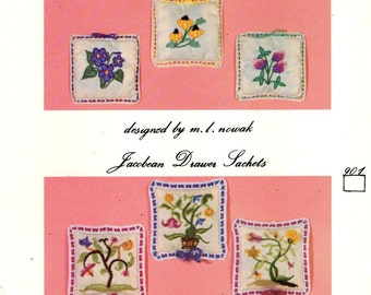 EMBROIDERY Wildflower Drawer Sachets Kit  G NW Needleworks / Greenfield Needlewomen