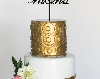 Mr. & Mrs. Acrylic Cake Topper