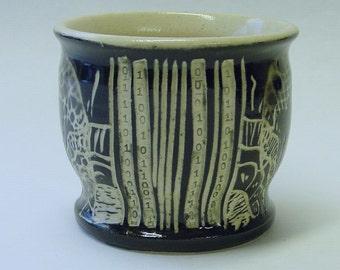 Barcode Mandala Wine Cup or Tea Bowl v2.0