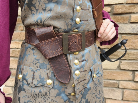 leather pirate belt brown limited by castawaytradingco