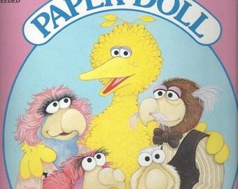 Sesame Street Follow That Bird Vintage Paper Dolls, 1985
