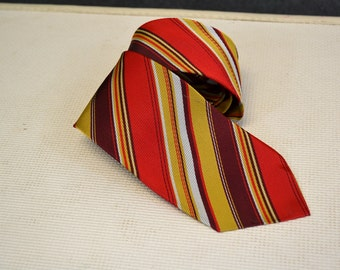 1970s Diagonal Stripe Necktie