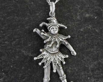 Sterling Silver Jester Pendant on a Sterling Silver Chain