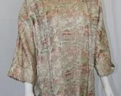 Vintage Luahala Silk Brocade Swing Jacket