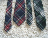Vintage Pair 100% Virgin Wool Scottish Tartan Plaid Neckties - Pendleton & Amana Colonies