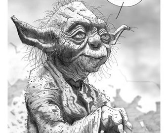 Star Wars 8.5 X 5.5 Giclee prints of pencil drawings