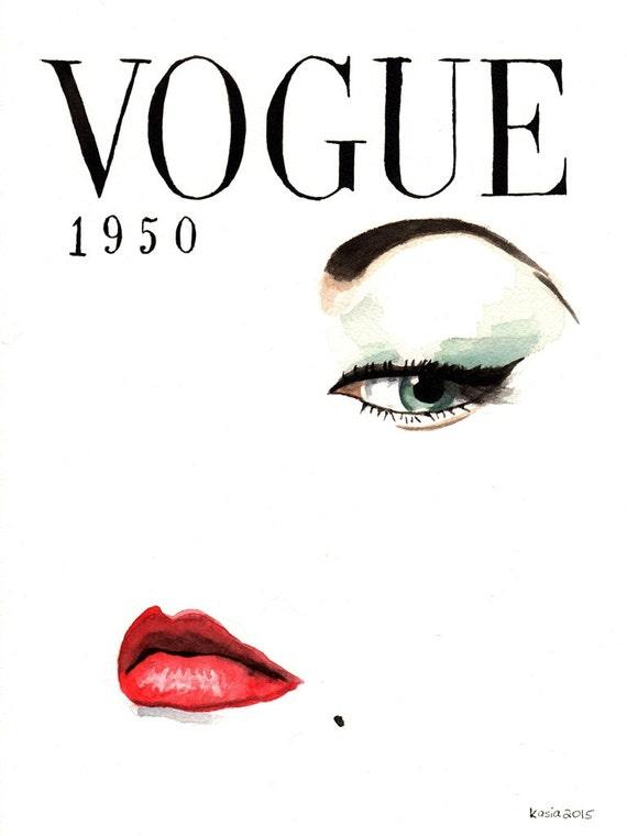 Framed vintage vogue magazine covers