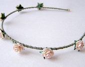 Blush Pink Rose Headband