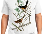 Towhe Bunting Bird Retro Men & Ladies T-shirt - Gift for Bird Lovers and Ornithologist (idc029)