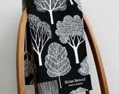 Woodland Tea Towel (Black)