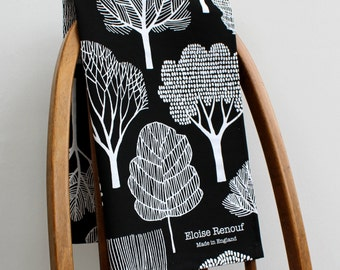 Woodland Tea Towel (Black)